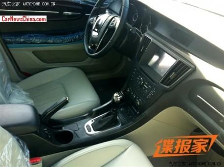 Spy Shots: Beijing Auto C50E, interior