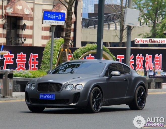Bentley Continental Supersports is matte black in China