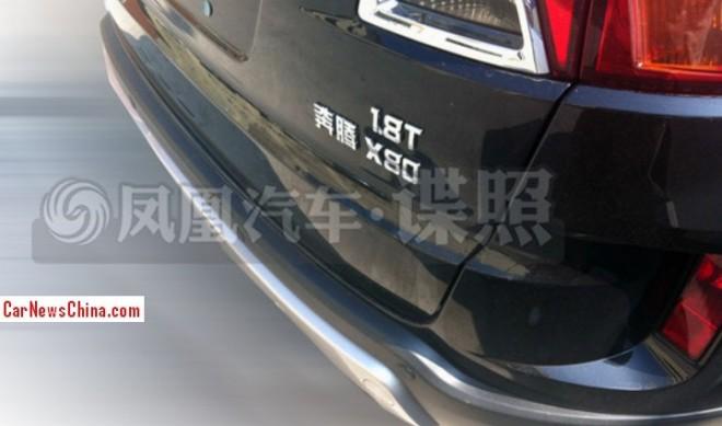Spy Shots: Besturn X80 SUV will get a 1.8 turbo