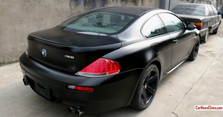 BMW E63 M6 is matte black in China
