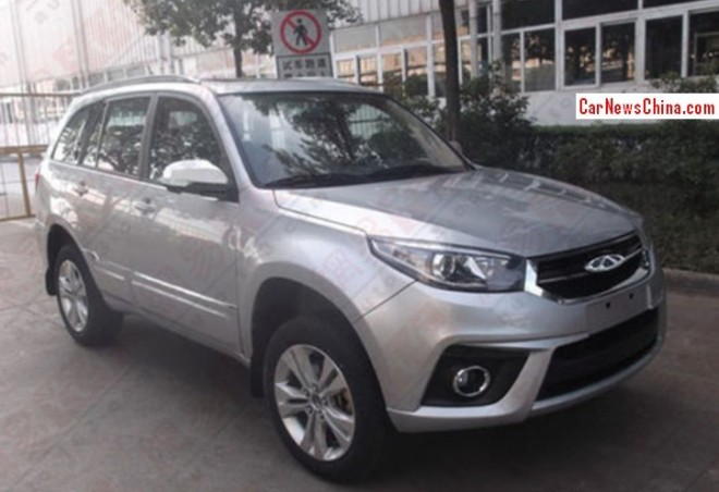 Spy Shots: facelifted Chery Tiggo 3 is Naked in China