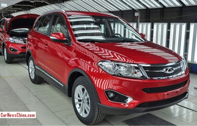 Spy Shots: Chery Tiggo 5 seen Naked from all Sides in the Factory in China