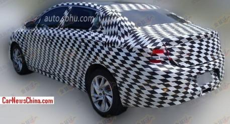 Spy Shots: Citroen DS4 sedan testing in China