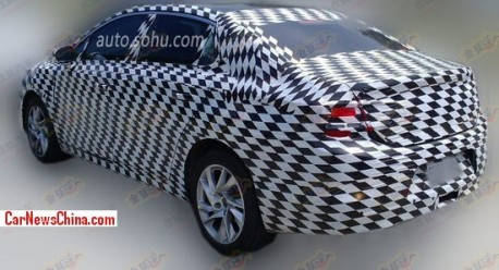 Spy Shots: Citroen DS4 sedan testing in China