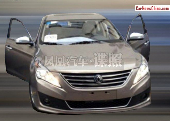 Spy shots: facelifted Dongfeng Fengshen A60 testing in China