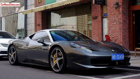 Two-tone Ferrari 458 Spider has a License in China