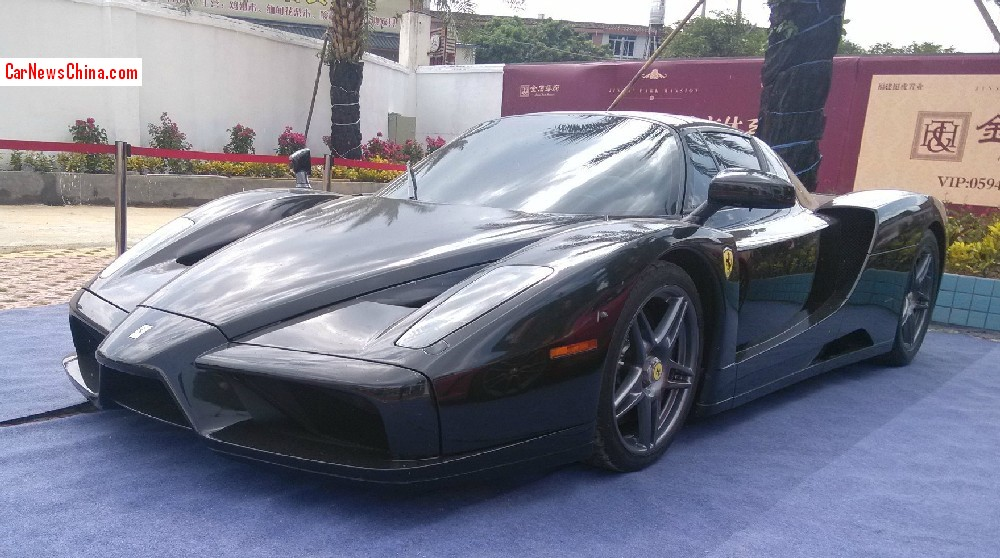 an extremely manic and extremely black ferrari enzo seen in the great city of putian in fujian province the super sonic super car is used kinda harshly - Ferrari Enzo Gold
