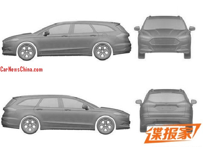 Patent Applied: Ford Mondeo Wagon to come to China