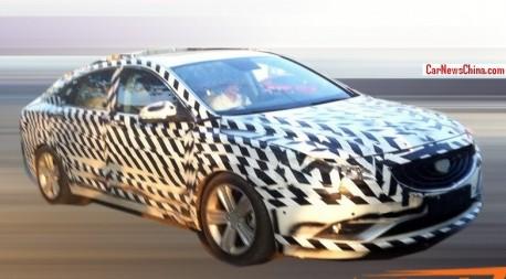Spy shots: Geely Emgrand EC9 sedan seen testing in China