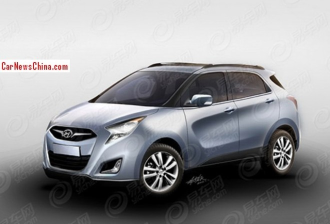 Spy Shots: renderings of the new Hyundai ix25 SUV for China