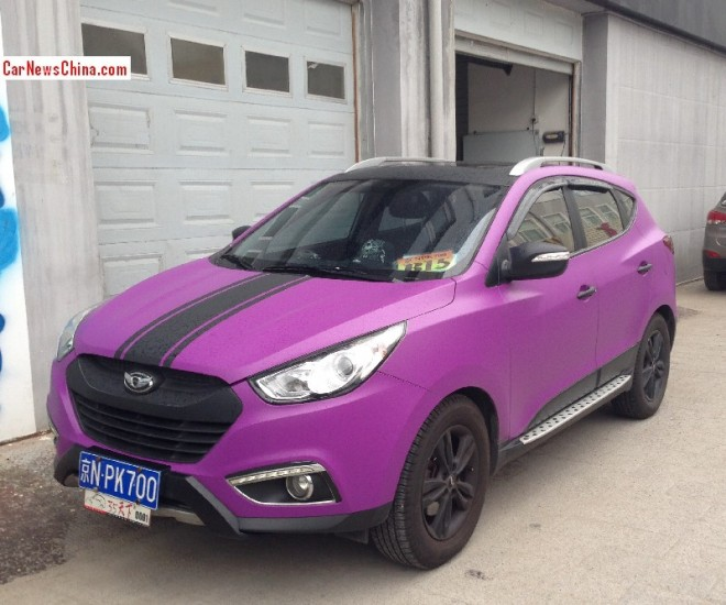 Hyundai ix35 is matte purple in China