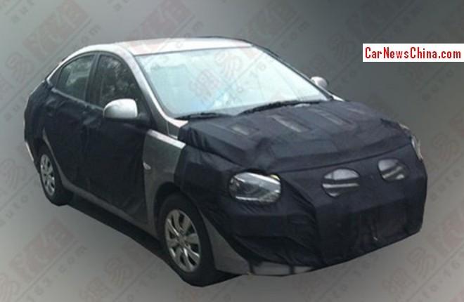 Spy Shots: facelifted Hyundai Verna testing in China