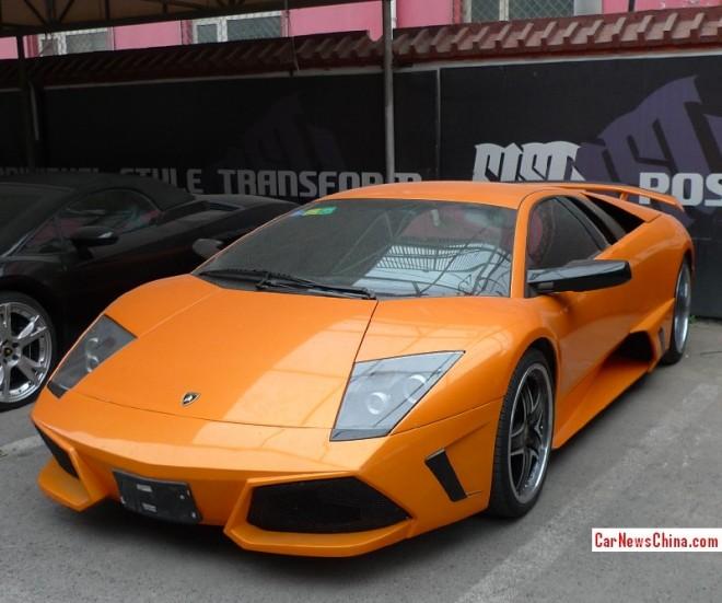 Spotted in China: Lamborghini Murcielago in Orange