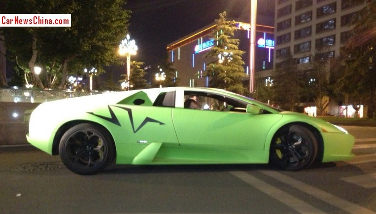 Lamborghini Murcielago Lp 640 Is Matte Lime Green In China