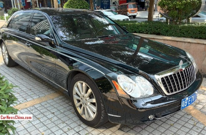 Spotted in China: Maybach 62S is a big black limousine in Shenzhen