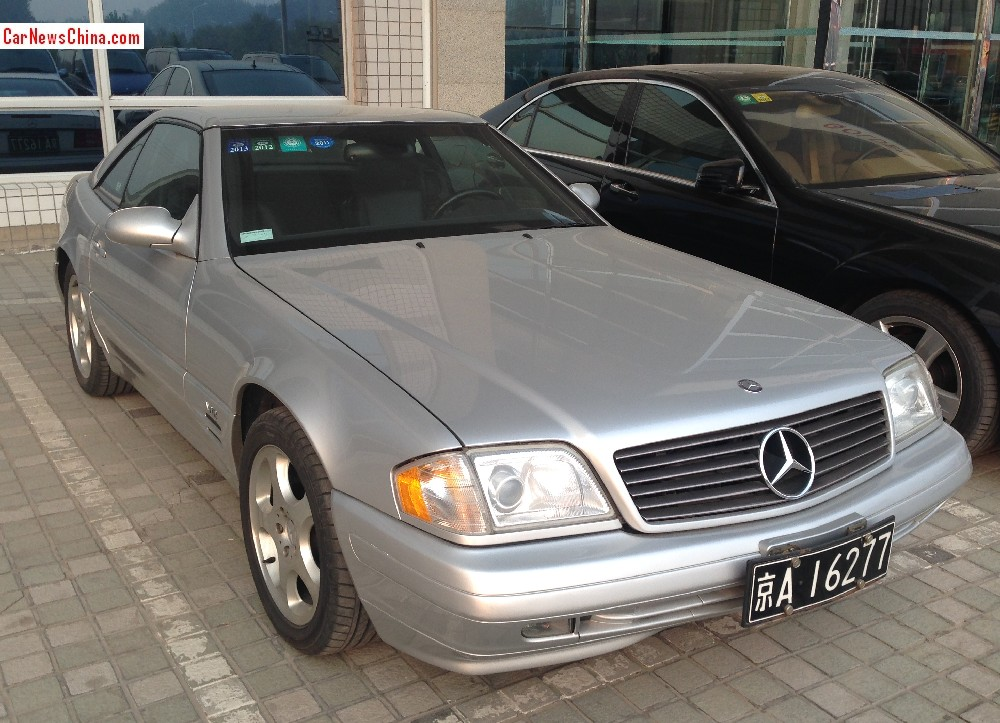 Spotted in china r129 mercedes benz sl600 for Mercedes benz china