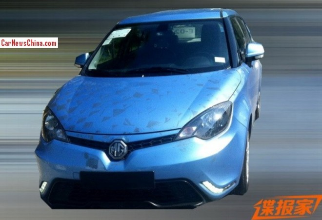 Spy Shots: facelifted MG3 seen testing in China