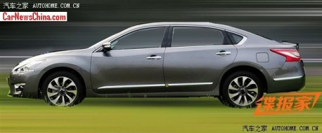 Spy shots: stretched Nissan Teana VIP testing in China