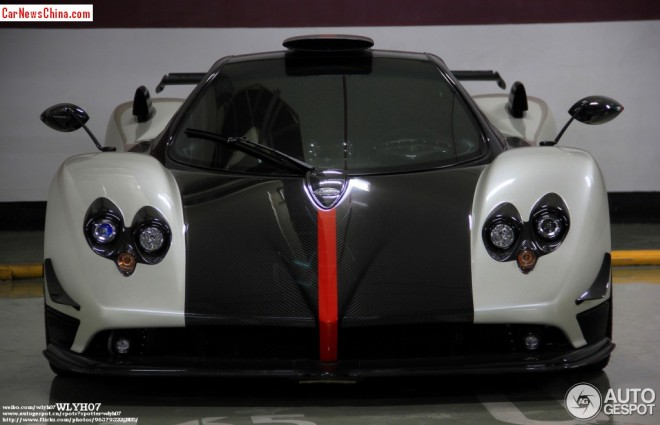 Spotted in China: Pagani Zonda Cinque