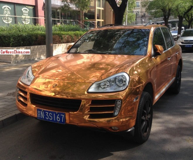 Bling! Porsche Cayenne is Gold in China