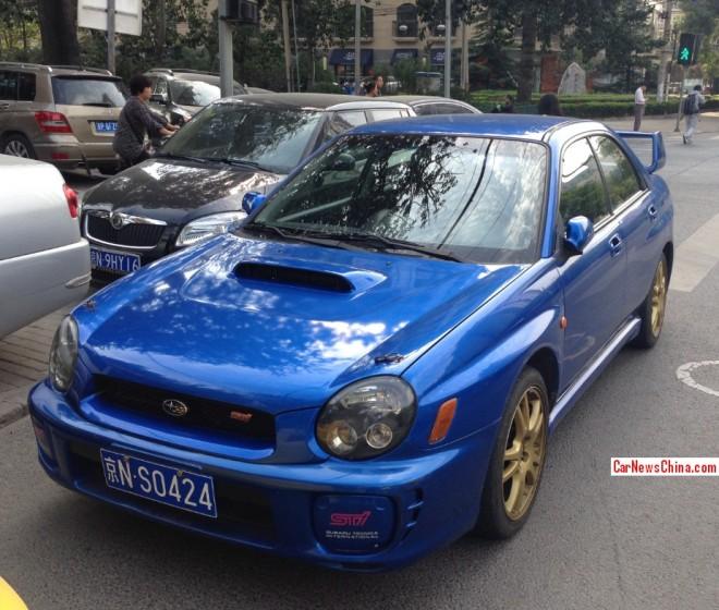 Spotted in China: second generation Subaru Impreza WRX STi