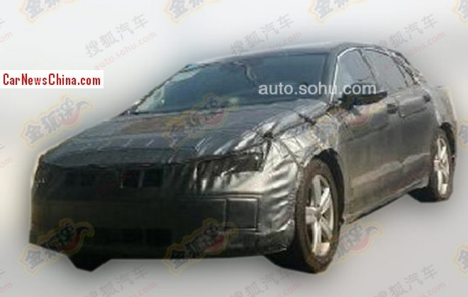Spy Shots: China-only Volkswagen c-class sedan seen testing for the first time