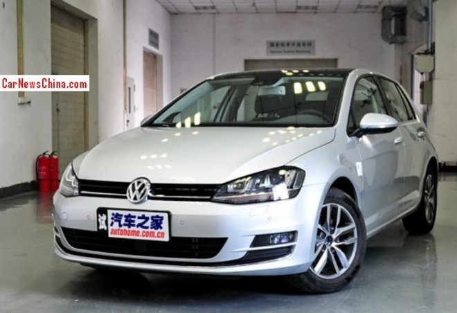 China-made Volkswagen Golf 7 is ready for the Chinese auto market