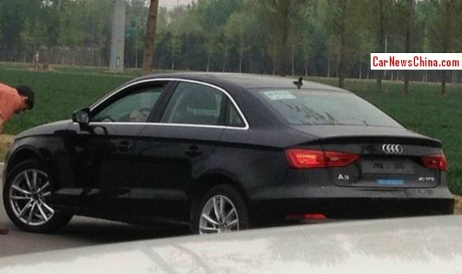 Spy Shots: Audi A3 sedan seen testing in China