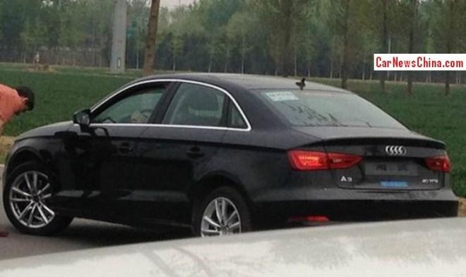 Spy Shots: Audi A3 sedan seen testing in China