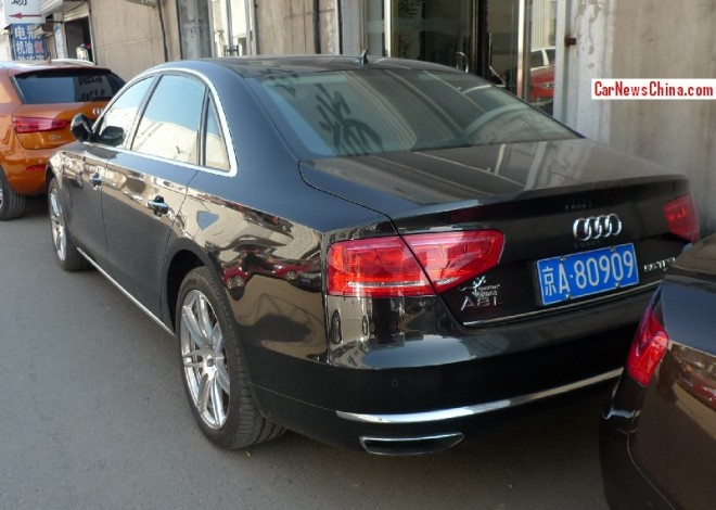 Audi A8L has a License in China