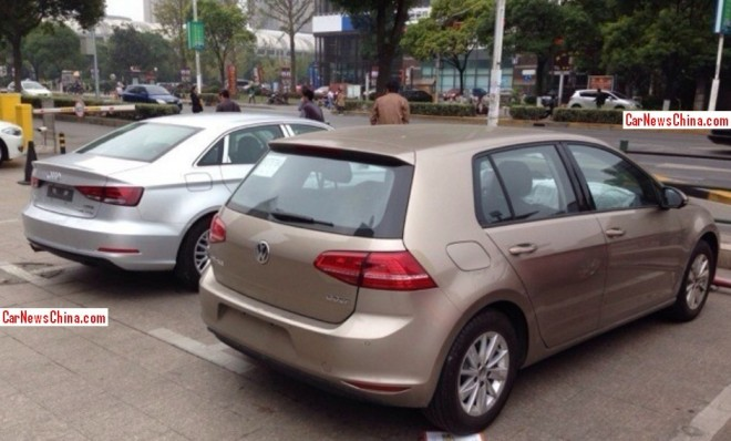 Spy Shots: China-made Audi A3 sedan and Volkswagen Golf 7 are Ready for the Chinese auto market