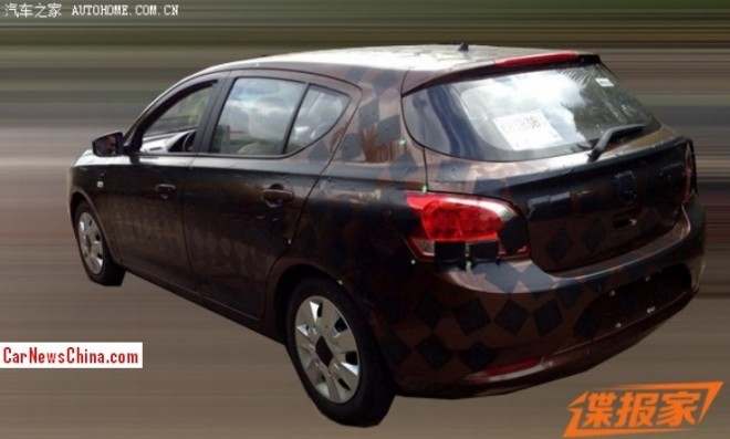Spy Shots: 2014 Wuling Baojun 630 hatchback seen testing in China