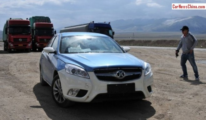 Spy Shots: Beijing Auto C50E testing in the mountains in China