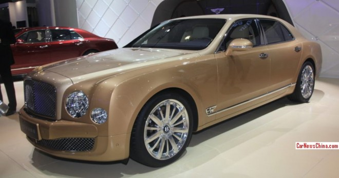 This is the $1.46 million Bentley Mulsanne Four Seasons Edition Golden Pine for the China car market
