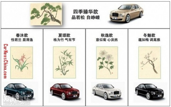 Bentley Mulsanne Four Seasons Edition for the China car market