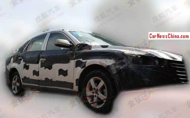 Spy Shots: FAW-Besturn B30 seen testing in China