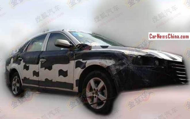 Spy Shots: FAW-Besturn B30 seen testing in China