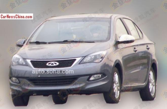 Spy Shots: Chery Arrizo 3 sedan testing in China