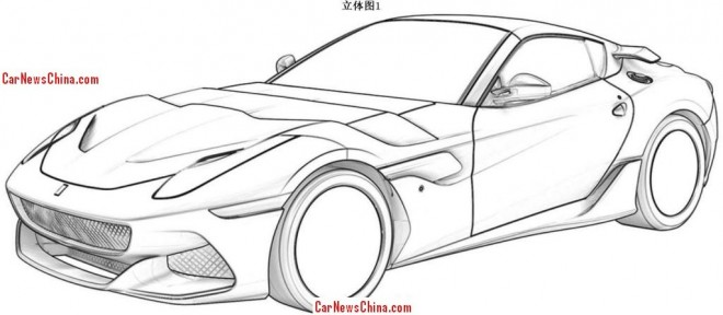 Ferrari F12berlinetta 'GTO' leaks at the Chinese patent office