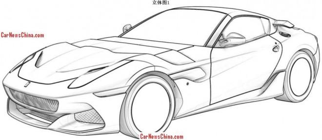 Ferrari F12berlinetta 'GTO' leaks at the Chinese patent office