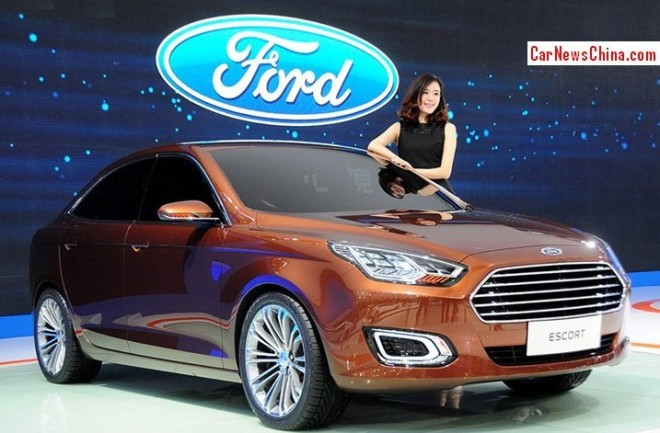 New Ford Escort will be called Yachite in Chinese