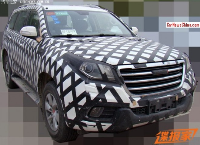 Spy Shots: Haval H9 SUV seen testing in China again