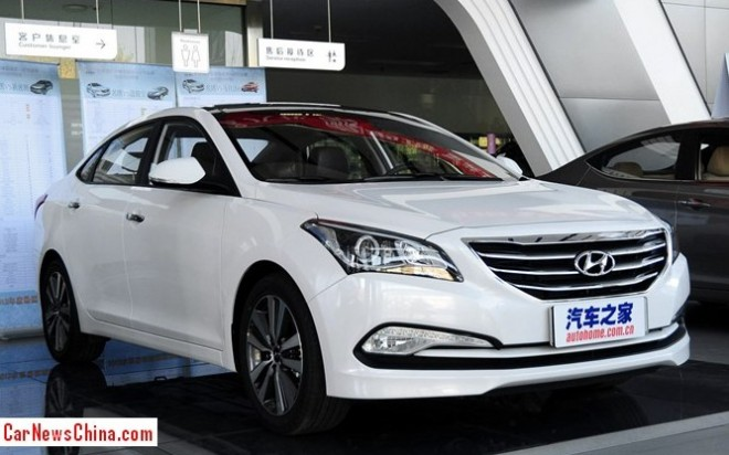 New 2014 Hyundai Mistra arrives at the Dealer in China