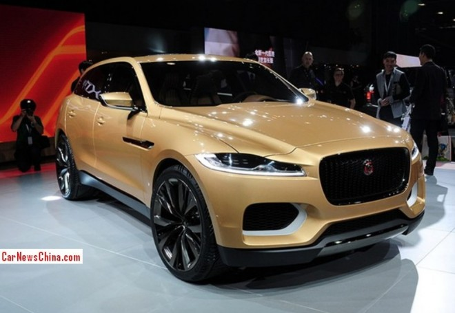 Jaguar C-X17 Concept turns into Gold for the Guangzhou Auto Show in China