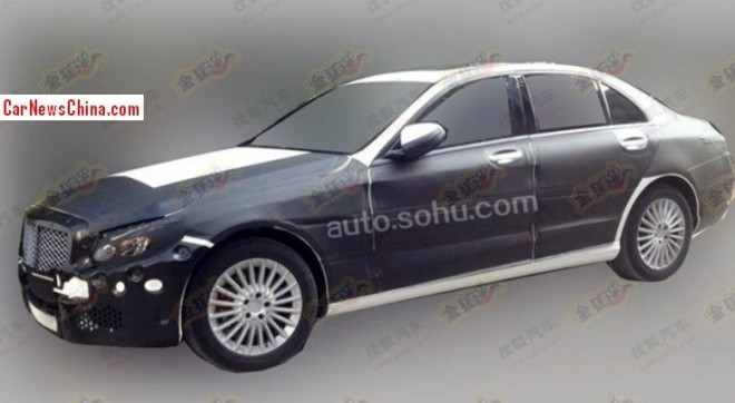 Spy Shots: stretched 2014 Mercedes-Benz C-Class testing in China