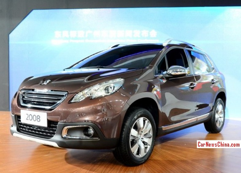 China-made Peugeot 2008 SUV arrives at the Guangzhou Auto Show ...