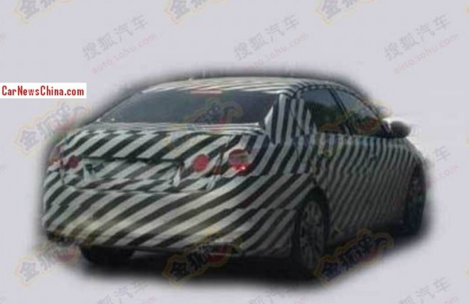 Spy Shots: 2014 Peugeot 308 sedan testing in China