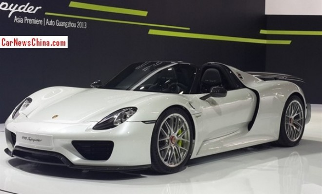 Porsche 918 Spyder arrives at the Guangzhou Auto Show