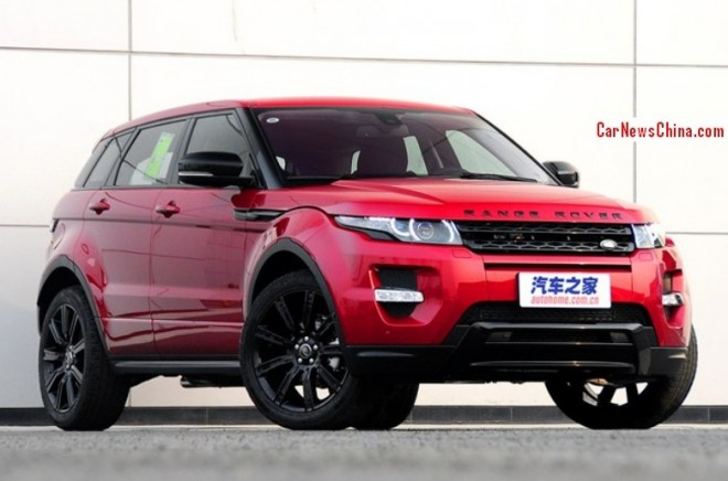 Range Rover Evoque Christmas Edition hits the China car market