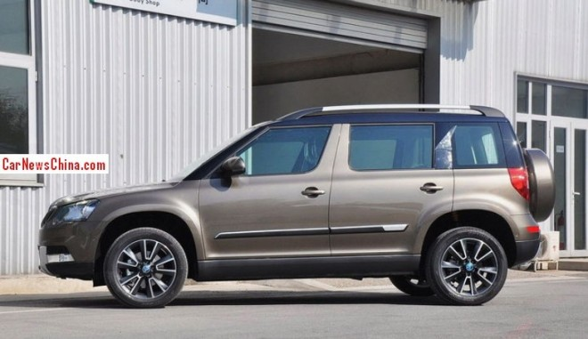 Stretched Skoda Yeti hits the China car market